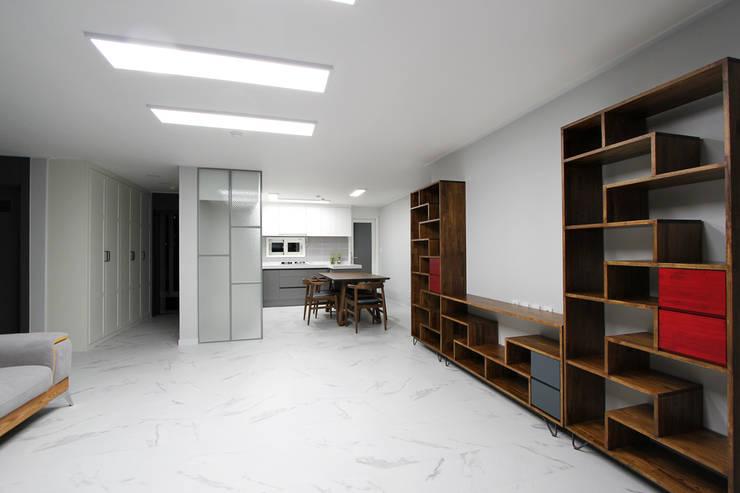 Living room by 한 인테리어 디자인