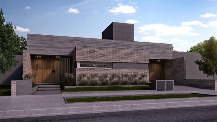 Fachada: Casas unifamiliares de estilo  por WE ARQUITECTURA,