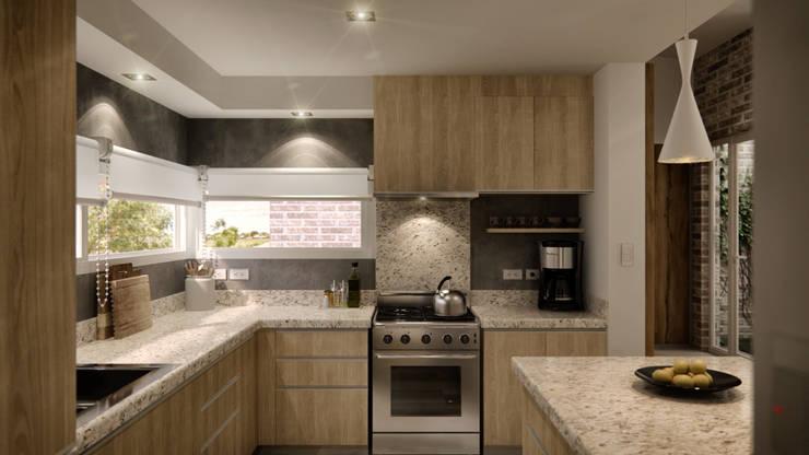 Cocina: Cocinas a medida  de estilo  por WE ARQUITECTURA,