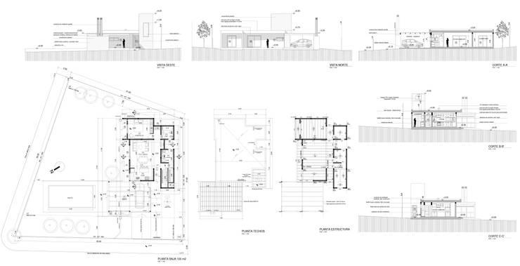 Legajo Municipal presentado: Casas unifamiliares de estilo  por WE ARQUITECTURA