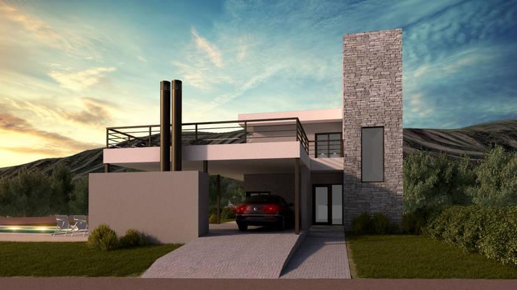 Fachada 2era Etapa: Casas unifamiliares de estilo  por WE ARQUITECTURA