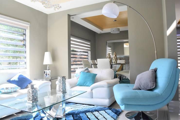 Casa Cafetos: Salas de estilo moderno por GBQ Arquitectos
