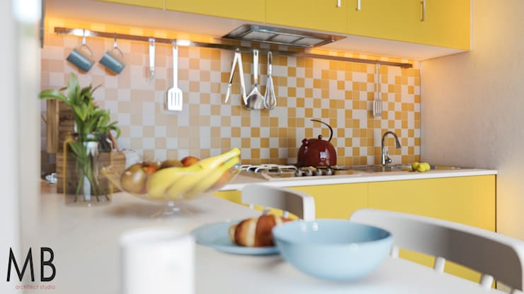 Yellow Kitchen de MIB Studio