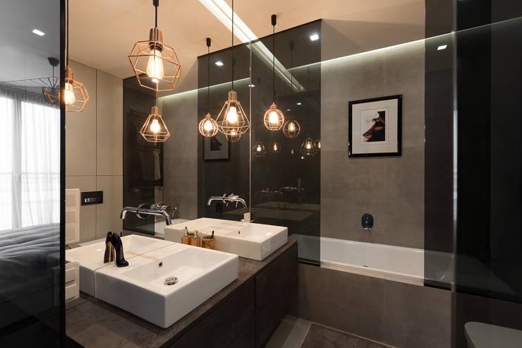 Ванные комнаты в . Автор – Dmowska design
