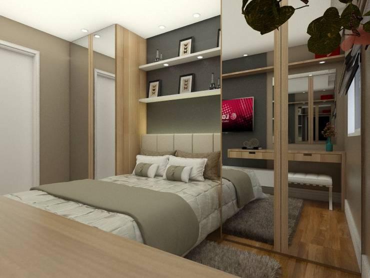 Dormitório casal: Quartos  por TREVISO Studio Arquitetura e Interiores
