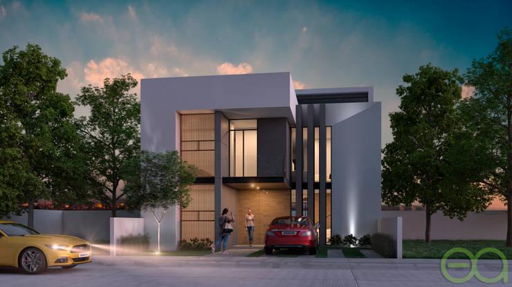 Fachada Principal : Casas de estilo  por Eutopia Arquitectura