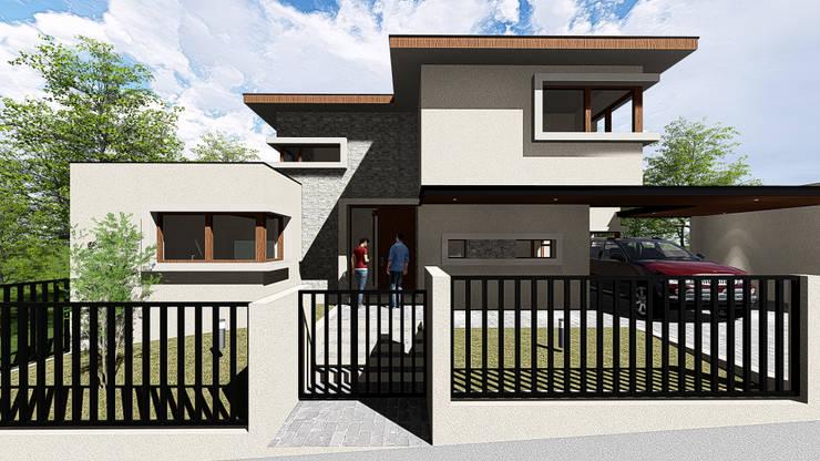 CASA FUNDO EL VENADO: Casas unifamiliares de estilo  por Sociedad Comercial & Ingeniería ING Spa.