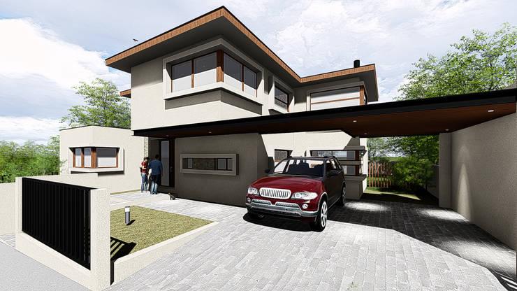 """VIVIENDA UNIFAMILIAR """"FUNDO EL VENADO"""": Casas unifamiliares de estilo  por Sociedad Comercial & Ingeniería ING Spa."""