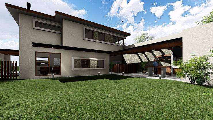 VIVIENDA UNIFAMILIAR <q>FUNDO EL VENADO</q>: Casas unifamiliares de estilo  por Sociedad Comercial & Ingeniería ING Spa.