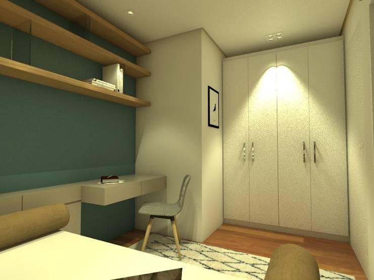 Dormitório : Quartos  por TREVISO Studio Arquitetura e Interiores