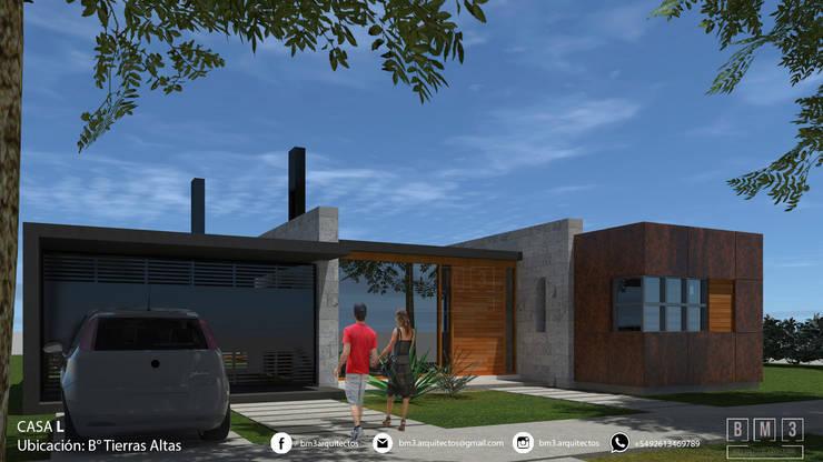 Fachada: Casas unifamiliares de estilo  por BM3 Arquitectos,