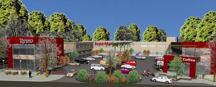 Vista aerea: Galerías y espacios comerciales de estilo  por MOLEarquitectura,