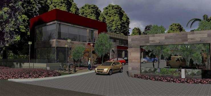 Vista resto.: Bares y Clubs de estilo  por MOLEarquitectura,