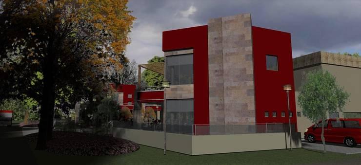 Vista confiteria: Galerías y espacios comerciales de estilo  por MOLEarquitectura,