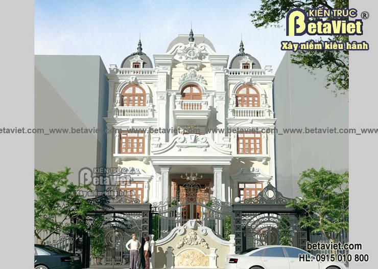 Phối cảnh mẫu thiết kế dinh thự đẹp 4 tầng Cổ điển (CĐT: Ông San - Hà Nội) BT14463:   by Công Ty CP Kiến Trúc và Xây Dựng Betaviet