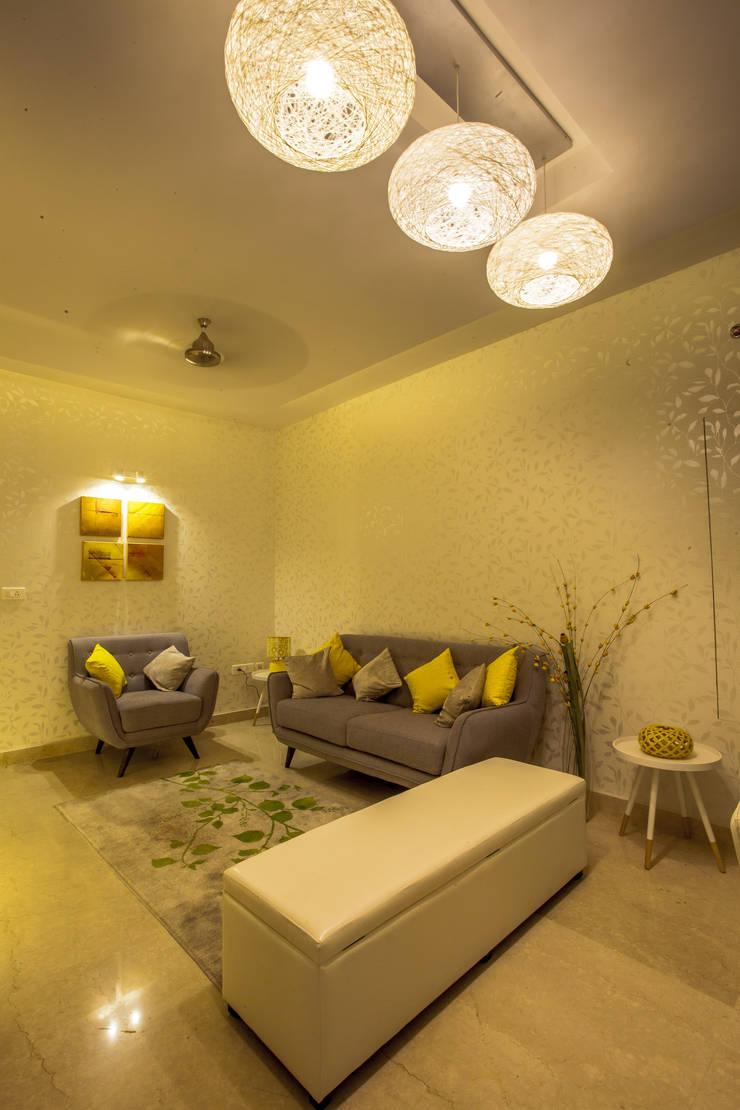Newry Mock Apt:  Living room by Design Dna,Modern