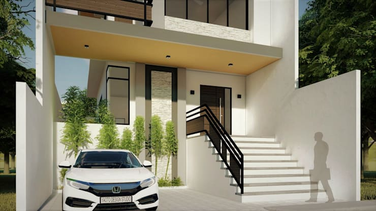Proposed 2 Storey Zen Type Residence:  Houses by Yaoto Design Studio