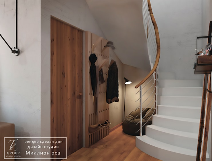 Escalier de style  par Design studio TZinterior group,