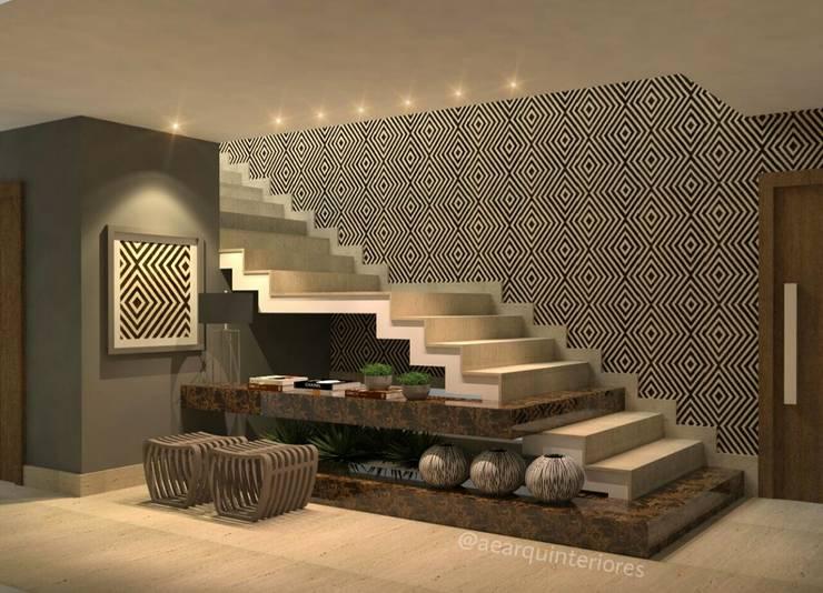Hall/Escada: Escadas  por AE ARQUINTERIORES