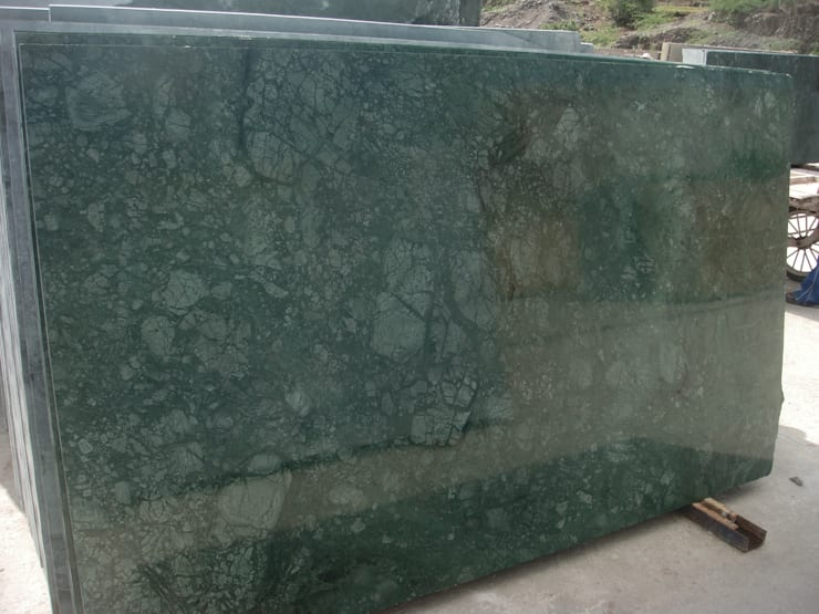 Green Marble and Verde Guatemala from India: modern Kitchen by Flodeal Inc.