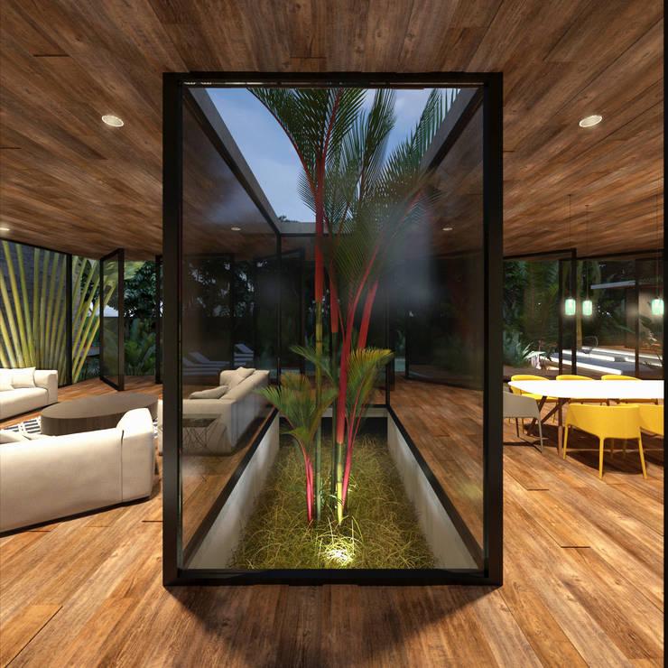 CASA PALMERA: Salas de estilo  por JSM Arquitectos