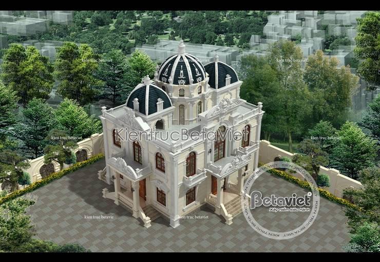 Phối cảnh thiết kế biệt thự 3 tầng Cổ điển Pháp (CĐT: Ông Hữu - Vĩnh Phúc) BT16012:   by Công Ty CP Kiến Trúc và Xây Dựng Betaviet