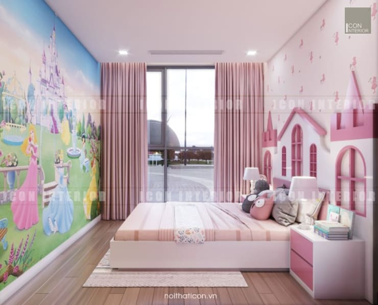 Thiết kế nội thất căn hộ Vinhomes Central Park Tân Cảng :  Phòng trẻ em by ICON INTERIOR