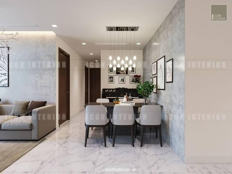Thiết kế nội thất căn hộ Vinhomes Central Park Tân Cảng :  Phòng ăn by ICON INTERIOR