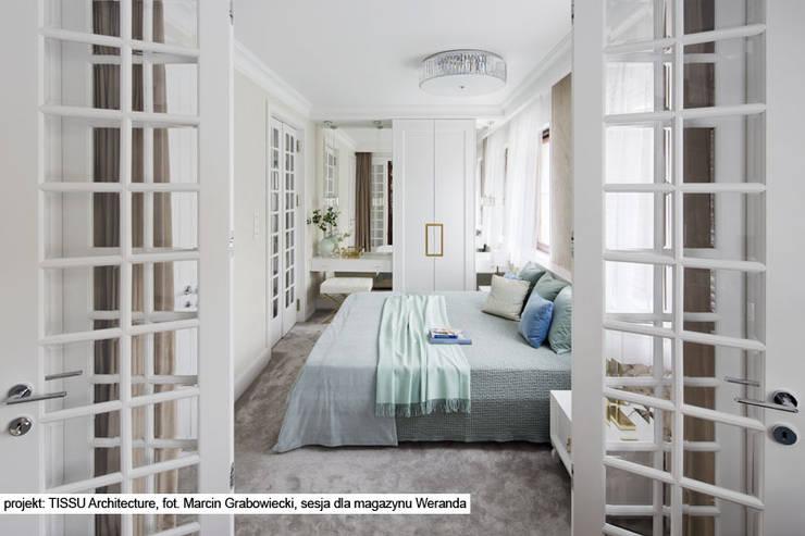www.tissu.pl: styl , w kategorii Sypialnia zaprojektowany przez TISSU Architecture