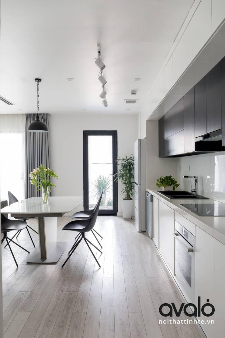 Căn hộ phong cách Avalo Đương Đại:  Nhà bếp by Công ty cổ phần NỘI THẤT AVALO