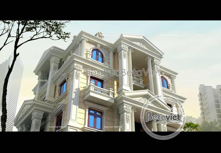 Phối cảnh thiết kế biệt thự 3 tầng phong cách Pháp cổ (CĐT: Ông Điển - Nha Trang) BT15020:   by Công Ty CP Kiến Trúc và Xây Dựng Betaviet