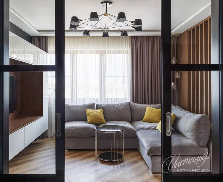 Дизайн интерьера квартиры: гостиная в современном стиле: Гостиная в . Автор – Студия Инстильер | Studio Instilier