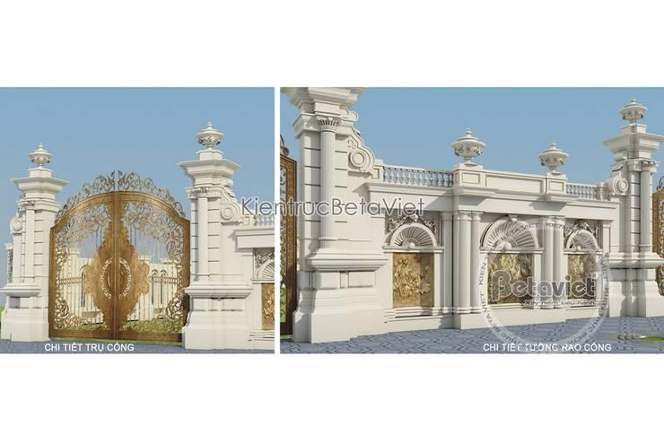 Phối cảnh mẫu thiết kế biệt thự đẹp 3 tầng Cổ điển (CĐT: Ông Mạnh - Hà Nội) KT16019:   by Công Ty CP Kiến Trúc và Xây Dựng Betaviet