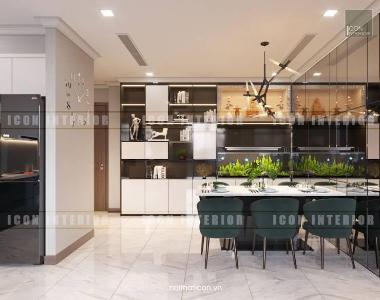 Thiết kế nội thất cao cấp dành cho căn hộ Vinhomes Central Park:  Phòng ăn by ICON INTERIOR