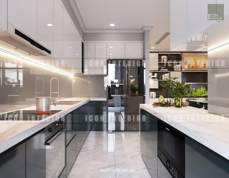 Thiết kế nội thất cao cấp dành cho căn hộ Vinhomes Central Park:  Nhà bếp by ICON INTERIOR