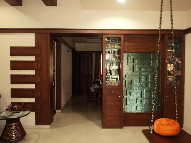 Sathyanarayanan Home Interior Design-1, Bangalore:  Inside doors by Bhavana Interiors Decorators