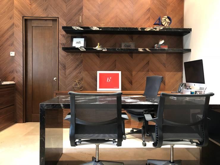 Prívate Office : modern Study/office by BURO DE DISEÑO