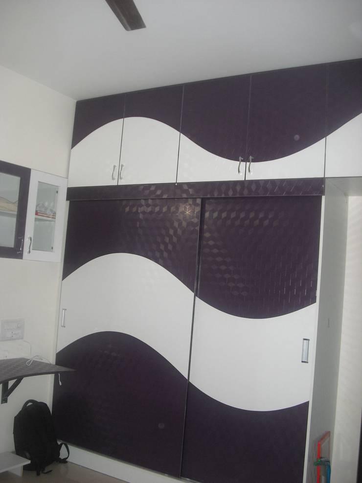 2BHK @Ananth nagar : modern Bedroom by FOGLINE INTERIORS
