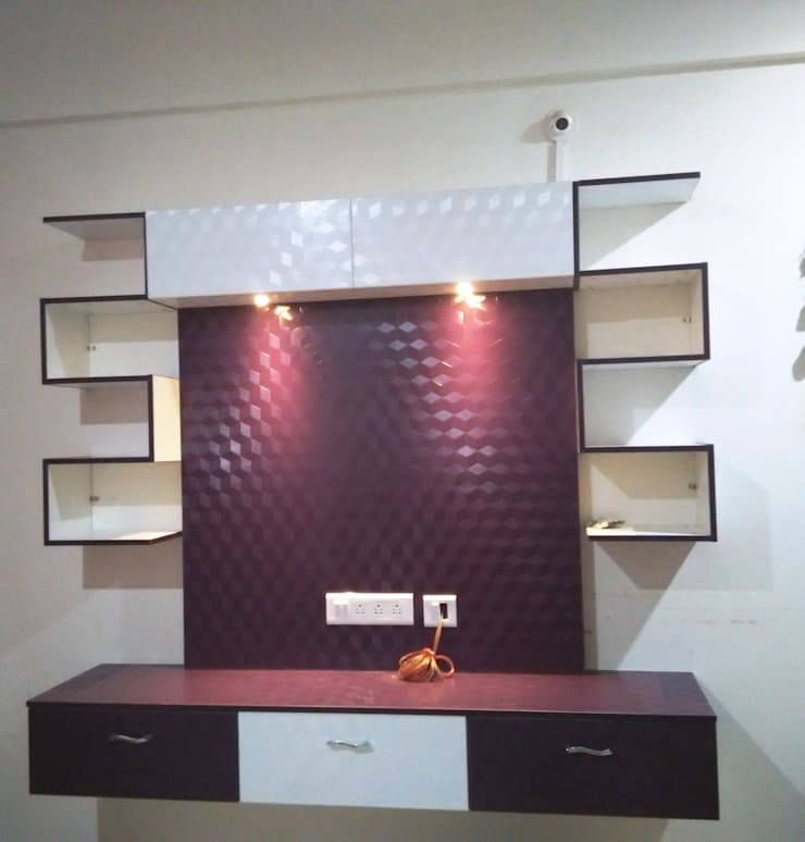 2BHK @Ananth nagar : modern Living room by FOGLINE INTERIORS