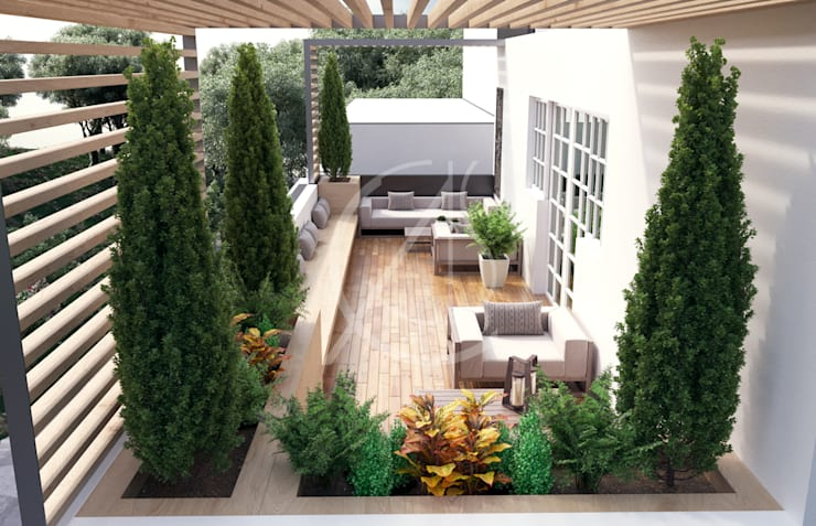 Terrazas de estilo  de Comelite Architecture, Structure and Interior Design ,