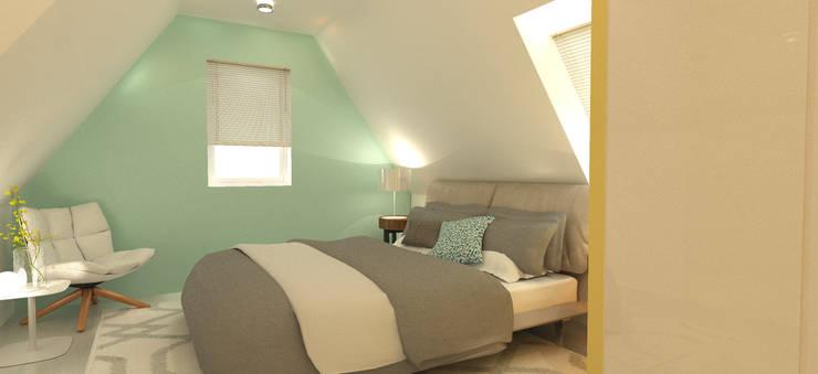 onder een schuin dak slaapkamer op zolder door stefania rastellino interior design