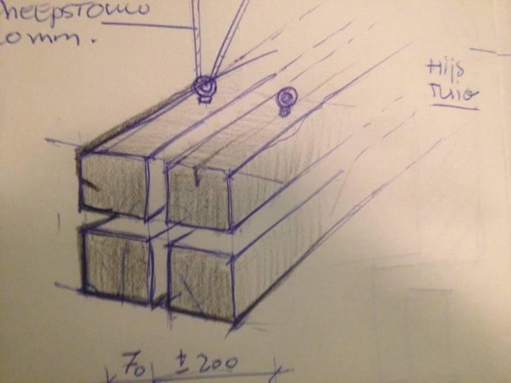ontwerp door Frank vanden Broek, realisatie door WE-Maatdsign:  Eetkamer door WE-Maatdesign