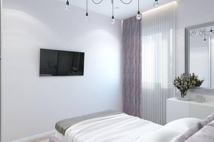 Однокомнатная квартира в ЖК Новин квартал: Спальни в . Автор – Гузалия Шамсутдинова | KUB STUDIO