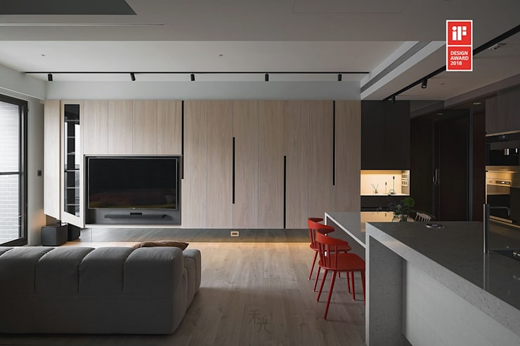 Living room by 禾光室內裝修設計 ─ Her Guang Design,