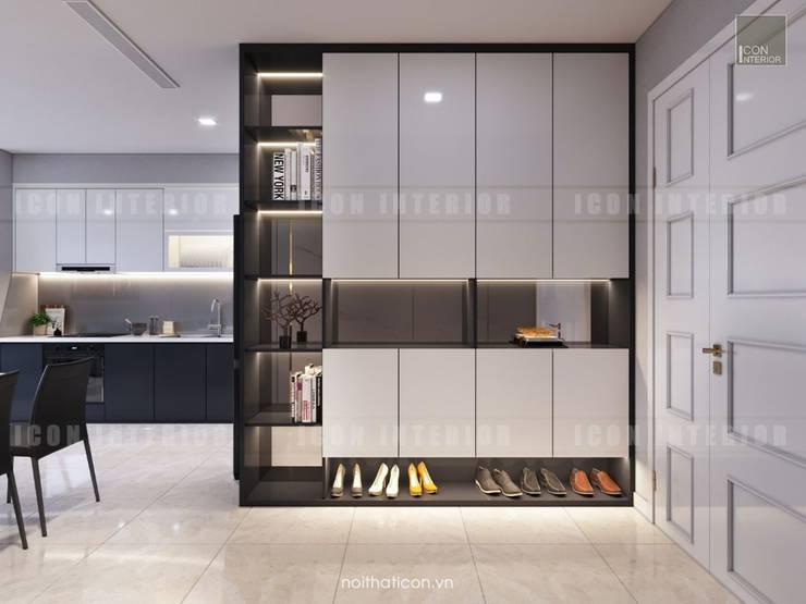 Thiết kế nội thất phong cách Châu Âu hiện đại cho căn hộ Landmark 5 Vinhomes Central Park:  Cửa ra vào by ICON INTERIOR