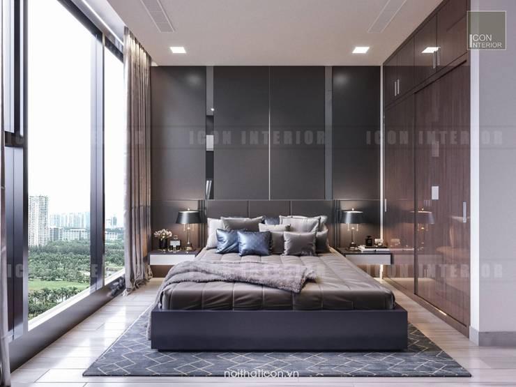 Thiết kế nội thất phong cách Châu Âu hiện đại cho căn hộ Landmark 5 Vinhomes Central Park:  Phòng ngủ by ICON INTERIOR