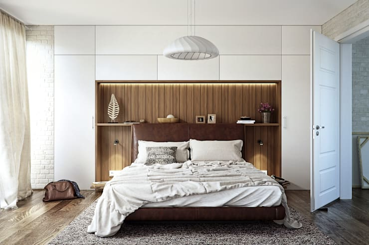 Modern Bedroom Design:  Bedroom by 7Storeys
