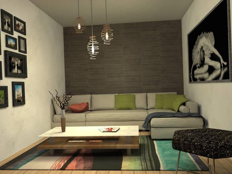 Visualizacion final del proyecto: Livings de estilo  por MM Design