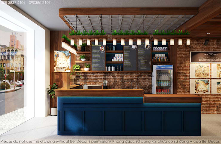 Project: PR1705 Tea & Coffee Shop/ Bel Decor:   by Bel Decor