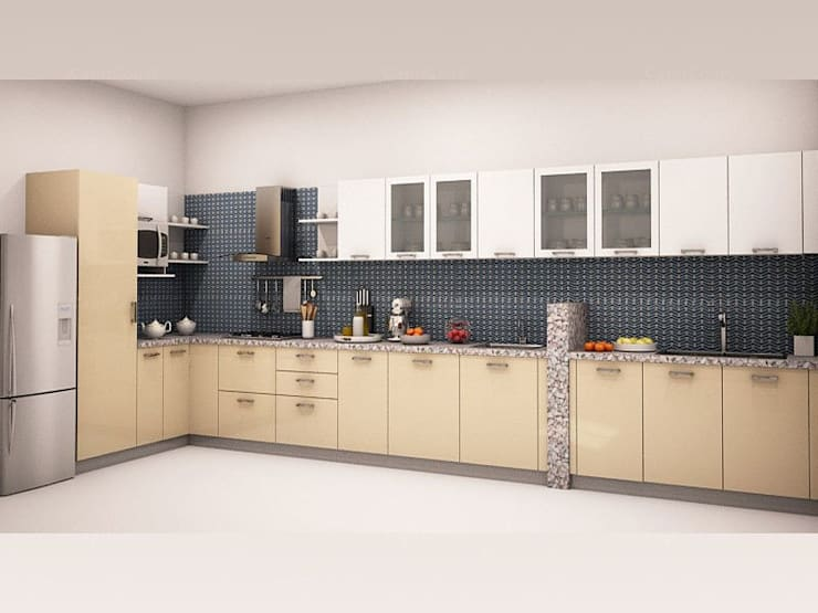 Aberto-l-shaped-modular-kitchen: asian  by HomeLane.com,Asian